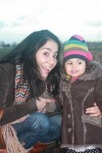 Moeder en dochter in beeld