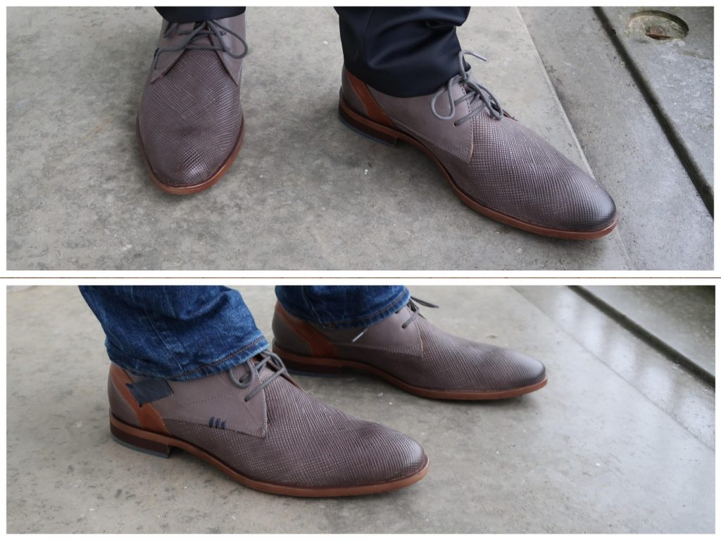 Walking on my blue (and grey) leather shoes - schoenen voor de man